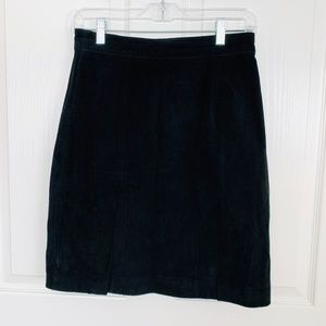 The Limited Genuine Suede Leather Mini Skirt